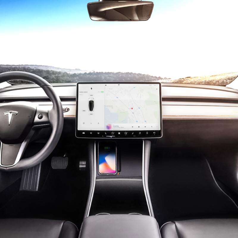 Trådløs Qi Lader Tesla Model 3 v2 BeGood